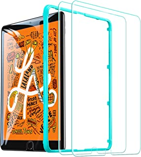 ESR iPad Mini 5 フィルム iPad Mini4 ガラスフィルム 高度透明 3倍強化 旭硝子 9H スクラッチ防止 気泡防止 自動吸着 貼り付け枠付き iPad Mini5/Mini4通用 保護フィルム 2枚入り