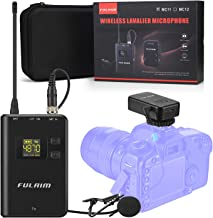 FULAIM UHF Wireless Lavalier Microphone System Lapel Mic for Dslr Camera iPhone Android Phones, Professional Microphone Device for Video Recording, Interview, Youtube and Vlog(MC11)