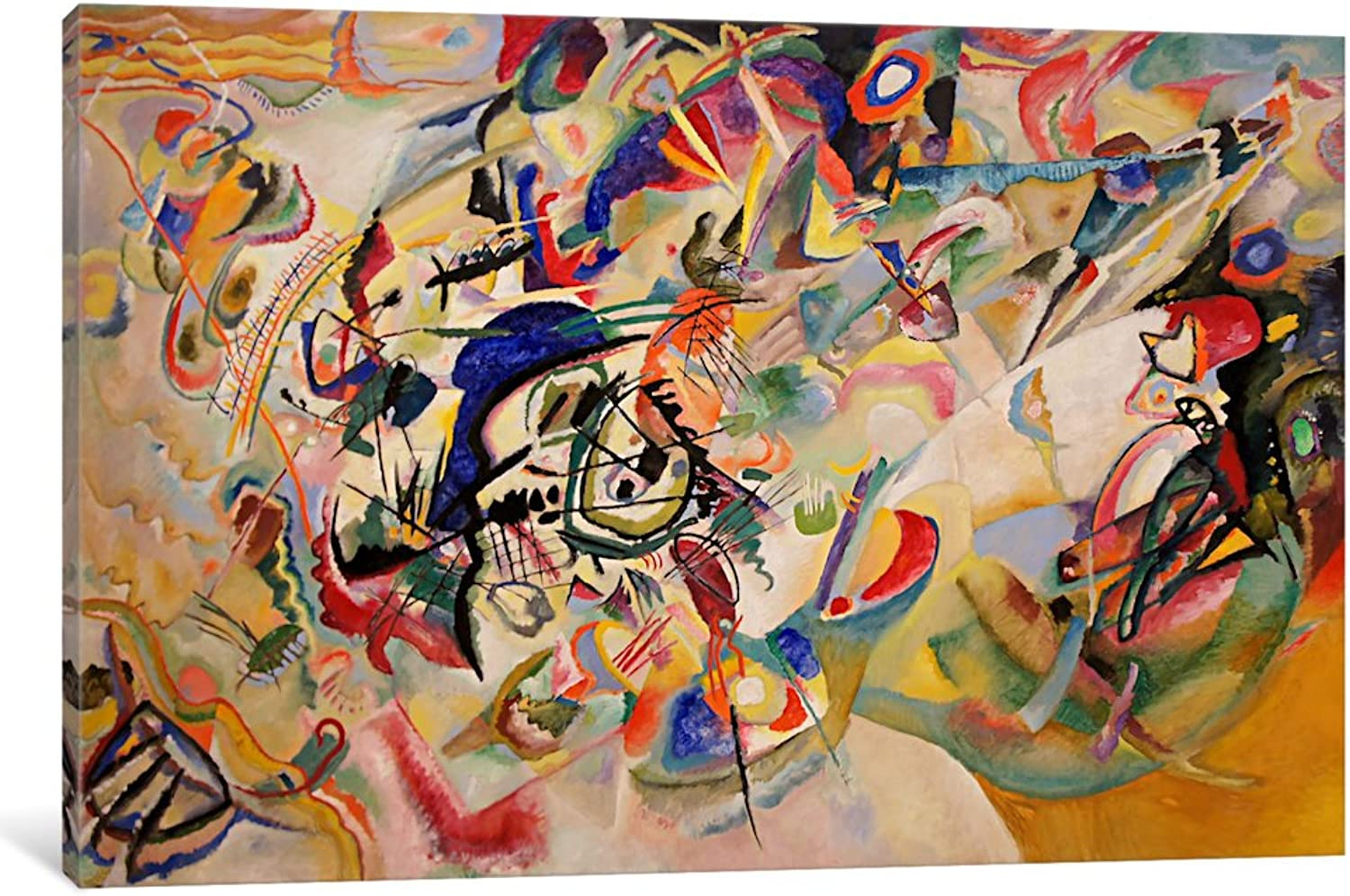 ICanvasART 11394-1PC6-26x18 iCanvas Composition VII by Wassily Kandinsky, 26  x 18