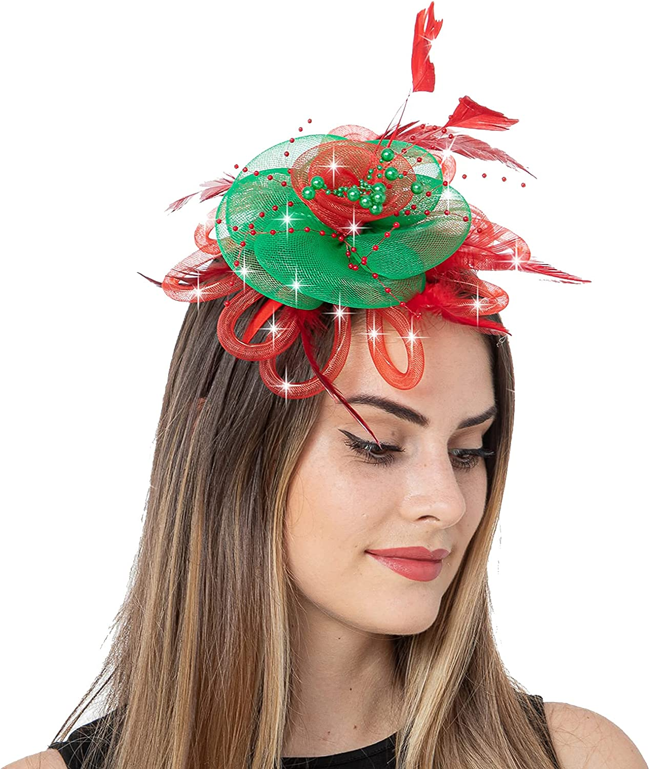 JAWEAVER LED Light Up Fascinators for Free shipping anywhere in Philadelphia Mall the nation Hat Head Women