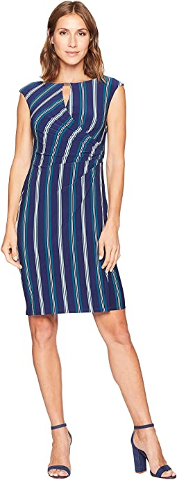 Spoletta Stripe Elkana Cap Sleeve Day Dress