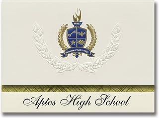 Signature Announcements Aptos High School (Aptos, CA) Graduation Announcements, Presidential style, Elite package of 25 wi...