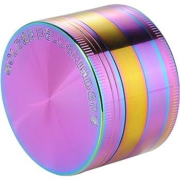 EngShwn dise/ño Premium Zinc aleaci/ón Arco Iris Maze con Polen Catcher Resistente Especias Tabaco Hierbas Amoladora 4/Piezas 52/mm