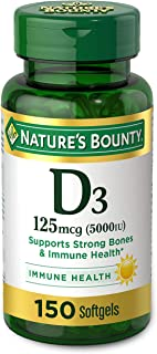 Vitamin D by Nature's Bounty for immune support. Vitamin D provides immune support and promotes healthy bones. 5000IU, 150...