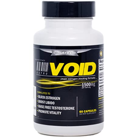 EstroVoid   Estrogen Blocker for Men  1500mg Natural Aromatase Inhibitor, Anti Estrogen, and Testosterone Booster Supplement - Boost Performance, Mood, Energy and Stamina