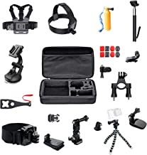 ParaPace 16 in 1 Action Camera Accessory Kit for GoPro Hero 7/6/5/4/3+ Hero Session 5 Black Fusion Accessories DJI OSMO Action Yi AKASO SJ4000/SJ5000/SJ6000 DBPOWER Rollei Campark Apeman