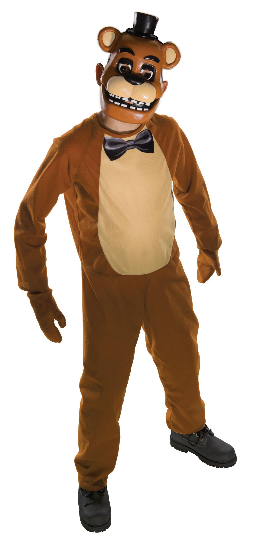 Freddy Tween Costume Five Nights at Freddy's Jumpsuit, Mitts and Mask Fazbear