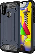 ValueActive Back Case Cover for Samsung Galaxy M31 Cover Case Rugged Armor TPU Shock Proof 360 Protection with Bumper Neo-Hybrid Dual Layer Back Cover Case for Samsung Galaxy M31 (M31, Blue)