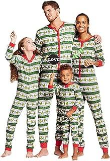 Family Matching Christmas Pajamas Set Geometric Patterned PJs Romper