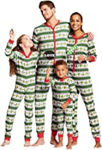 Family Matching Christmas Pajamas Set Geometric Patterned PJs Romper