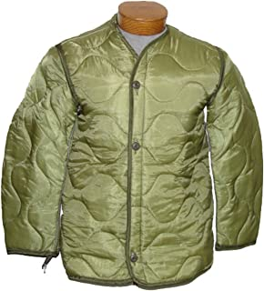 Military Outdoor Clothing Previously Issued U.S. G.I. Nylon M-65 Coat Liner