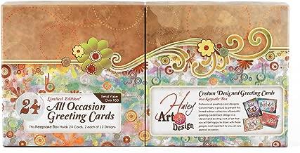 24pc Haley Art Design Card Box