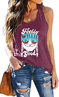 MOUSYA Women Have A Willie Nice Day Tank, Sleeveless Round Neck Belt Designed Casual Tank Tops for Ladies, Black