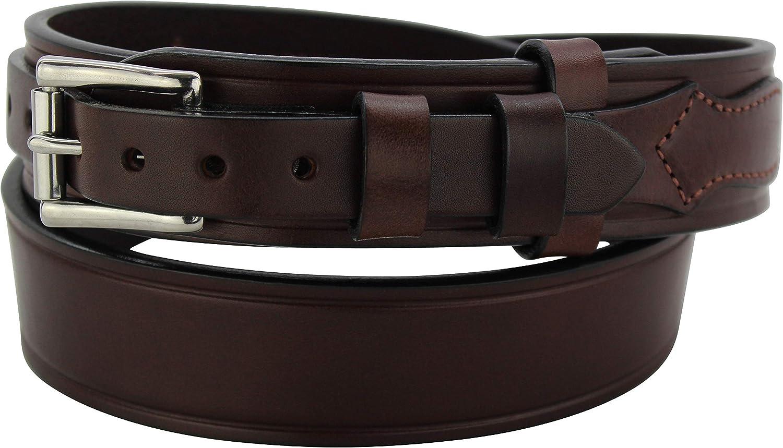 "Men's Leather Stitched trend rank Workhorse Mail order Ranger 1.75"" Belt – W"