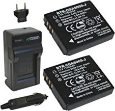 Wasabi Power Battery (2-Pack) and Charger for Leica BP-DC4, C-Lux 1, D-Lux 2, D-Lux 3, D-Lux 4