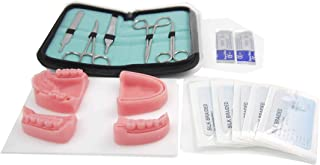 3D Suture Pad with Wounds with Suture kit for Doctors, Medical Students and Nurses. Soft Silicone. Durable and Reusable.