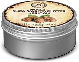 Shea Butter 200g - Kaltgepresst & Unraffiniert - Afrika - Ghana - 100% Rein & Natürlich Karité Body Butter - Körperbutter - Intensive Pflege für Gesicht - Körper - Haare - Körperpflege