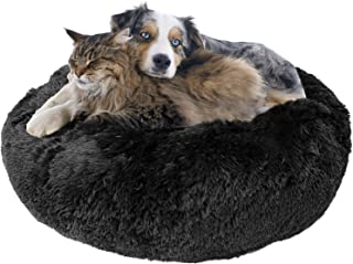 "Donut Dog Bed, Cozy Poof Style Giant Pet Bed for Dogs & Cats - Orthopedic, Washable, Durable (Oatmeal, Navy Blue, Brown, Light Grey, and Black) Available in 24"", 32"", 36"", 45"""