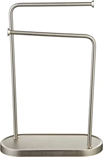 AmazonBasics Double-L Hand Towel Holder and Accessories Stand, Silver Nickel