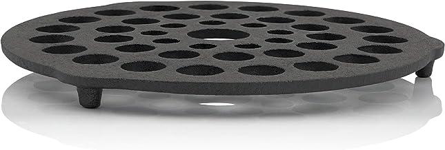 BBQ-Toro Dutch Oven Einsatz I Durchmesser 20 cm Dreibein Pfannenknecht I Stapelrost aus Gusseisen I Untersetzer und Gussrost I rund