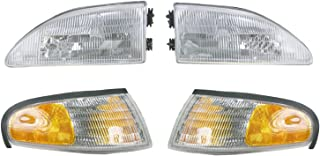 Headlights & Parking Corner Lights Left & Right Pair Set...