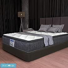 Restonic Colchón Y Box Matrimonial Apollo Pillow Top + 2 Almohadas de Regalo