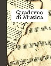 QUADERNO DI MUSICA: music notebook (Italian Edition)