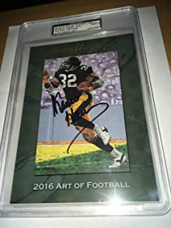 Franco Harris Pittsburgh Steelers Autographed Signed Memorabilia Ha Art Of Football Card PSA/DNA 19/20