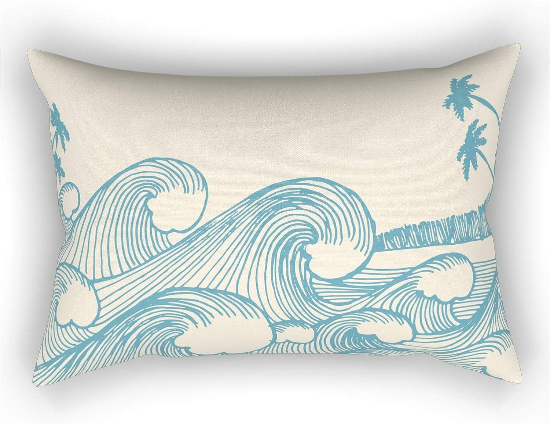 Society6 Portland Mall Waves by Babylon Vibes on Rectangular Pillow Finally popular brand - 2 Medium