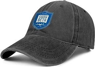 Plain Jeans Baseball Cap for Men Alpha Phi Omega Dad Hats for Men Unisex Adjustable Ball Caps