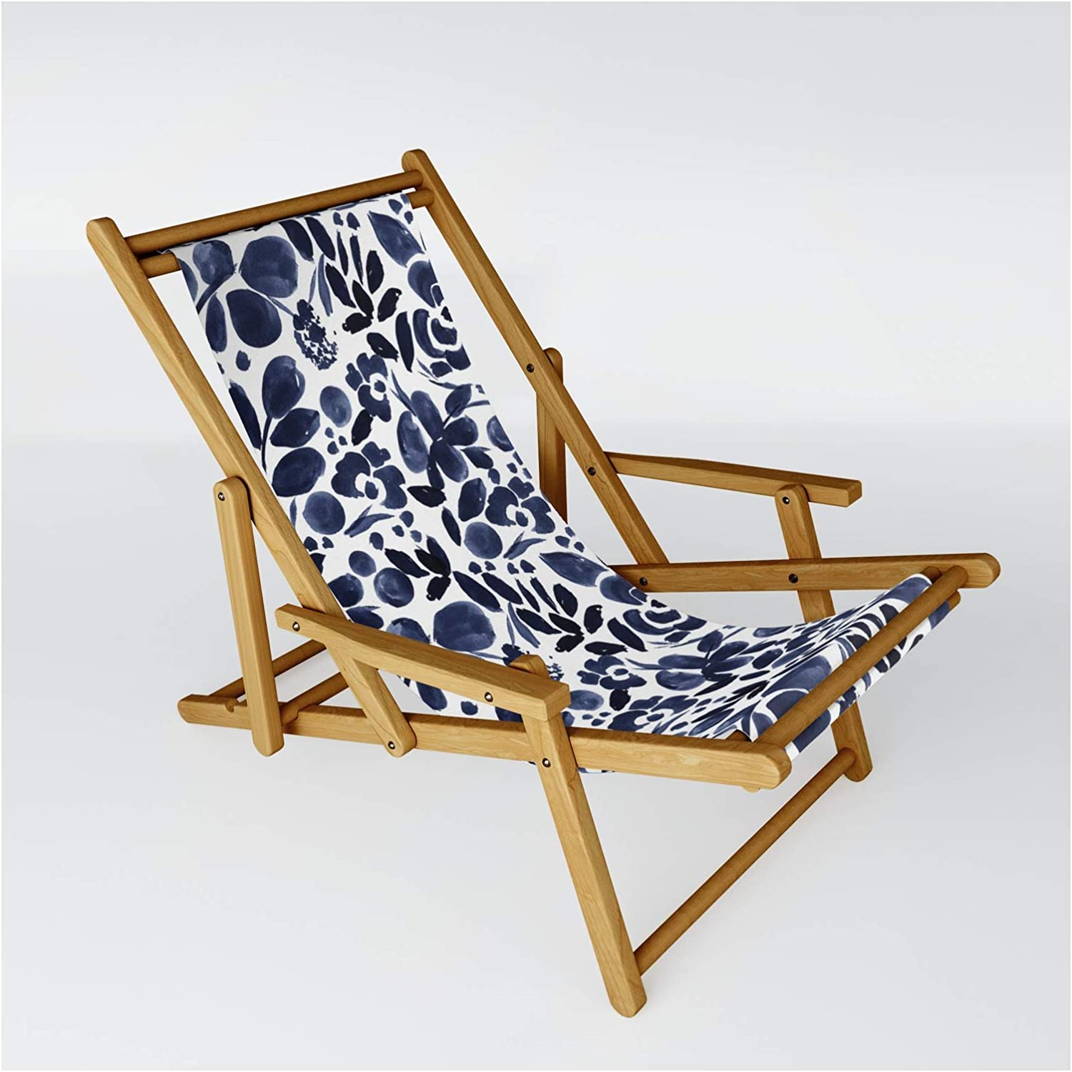 Society6 Navy Floral - Max 54% OFF Medium by Max 79% OFF W Crystal Design Sling on Chair