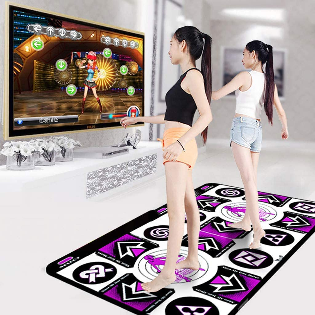 Non-Slip Wireless Dancer Step Pads with 150 Games AUX Music Levels Plug and Play,Sense Game for PC TV for 2 Dancer High Elasticity /& Sensitivity Battery Include S.H.EEE Dance Mat for Kids Adults