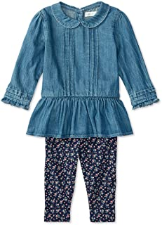 d1181c08ba98 Ralph Lauren Polo Baby Girls Denim Shirt & Floral Leggings Set (12 Months)