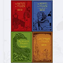 Tolkien Series David Day 4 Books Collection Set - The Battles of Tolkien,An Atlas of Tolkien,A Dictionary of Tolkien,The Heroes of Tolkien [Flexibound]
