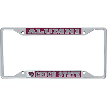 Alumni Desert Cactus California Cal State University Chico CSU Wildcats NCAA Metal License Plate Frame for Front Back of Car Officially Licensed