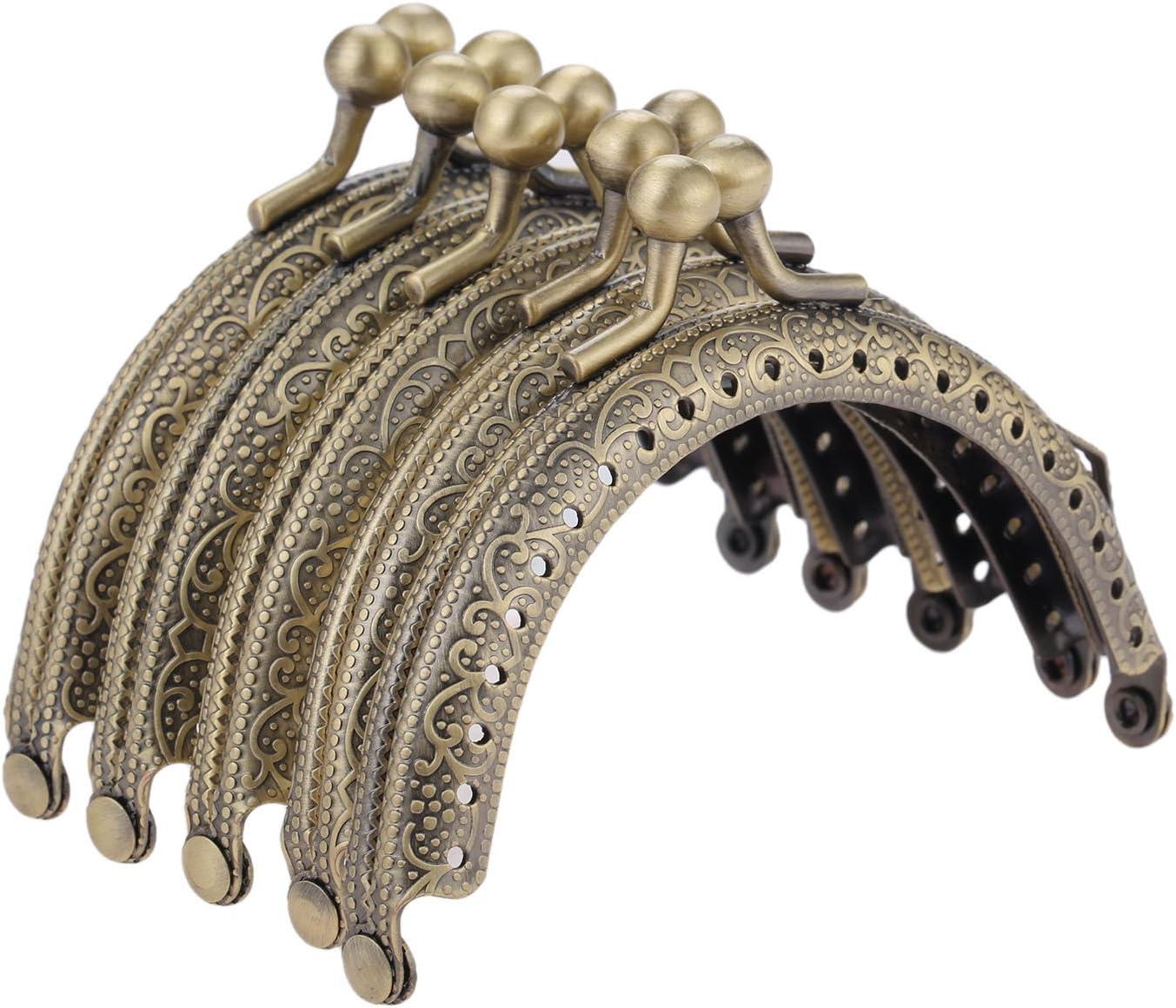 Bronze Metal Frame Purse price Coin Bag Lock P 5Pcs Fresno Mall Clasp Kiss