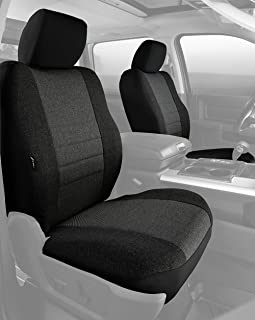 Fia OE38-32 CHARC Custom Fit Front Seat Cover Bucket Seats - Tweed, (Charcoal)