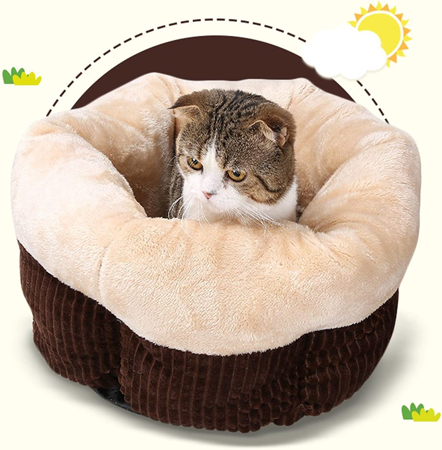 Pet CaveTent Bed for Dogs and Cats Pet Bed for Dogs & CatsPet Supplies Padded Pet Bolster Warming Beds Cat Cage (color   7)