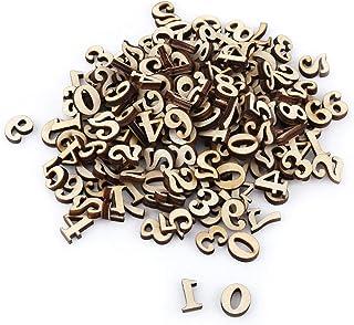 Houten Cijfers/Letters, 200 Stuks Gemengde Houten A-Z Letters / 0-9 Cijfers Onvoltooide Houten Letters Cijfers Voor Diy Cr...