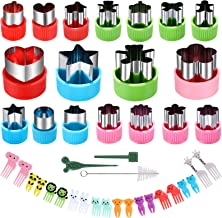 Vegetable Cutter Shapes Set - Mini Sizes Cookie Cutters Set,for Kids Baking and Food Supplement Tools Accessories Crafts f...