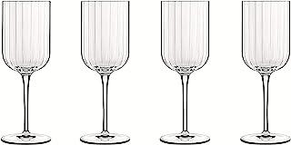 Luigi Bormioli 7540468 Boîte de 4 Verres à vin, Cristal, Transparent, 4 Unité (Lot de 1)