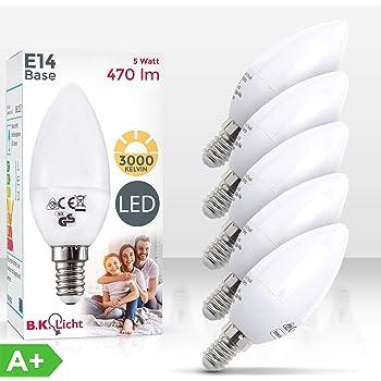 B.K.Licht Bombillas LED E14 I Ecológico I 5W equivalente a 40W I ...