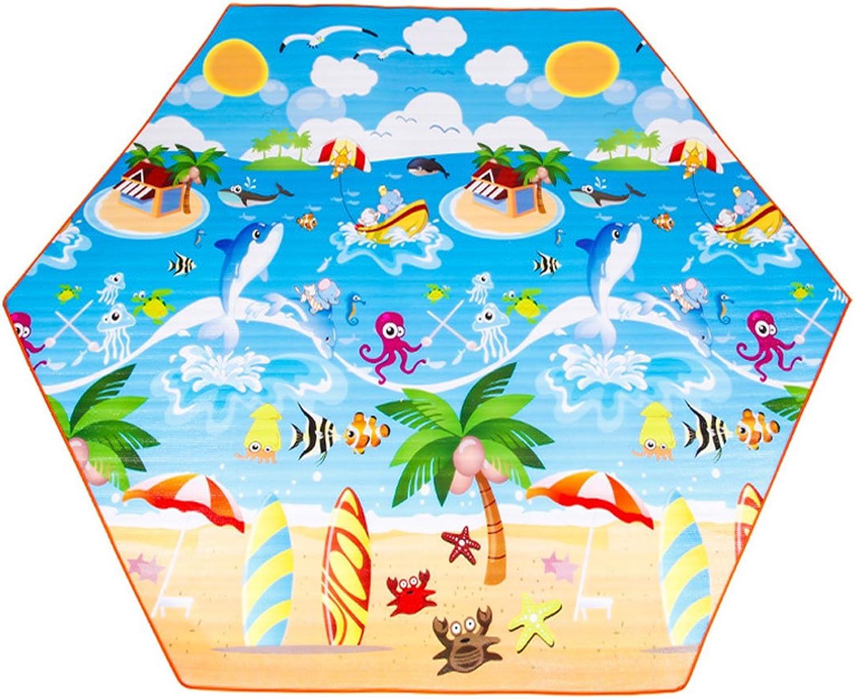 QYXANG QYXANG QYXANG Picknickdecke Tragbare Rasen Wasserdichte Familie Hexagon Matte Teppich für Freien Strand Camping (220  220 cm 250  250 cm) B07DPG1J5S  Einfach zu bedienen cb7740