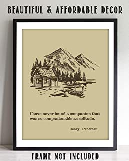 """Henry D. Thoreau Quotes Wall Art- """"Solitude Makes a Great Companion""""- 8 x 10"""