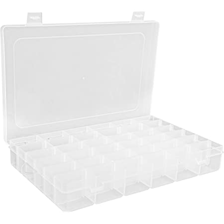 Amazon Com Opret Jewelry Organizer 4 Pack Plastic Jewelry Box 15 Grids With Movable Dividers Earring Storage Containers