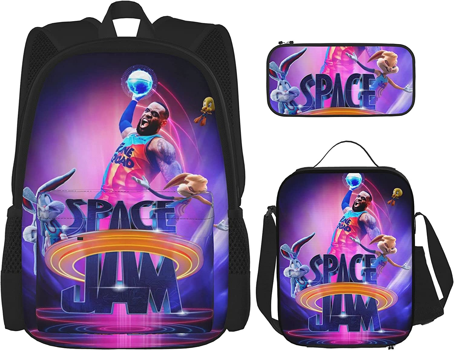 Space Backpack 3 Piece Set Book Bag And P Ranking TOP14 [Alternative dealer] Box Bookbag Lunch With