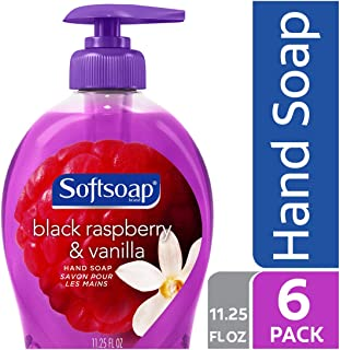 Softsoap Liquid Hand Soap, Black Raspberry and Vanilla - 11.25 fluid ounce (6 Pack)
