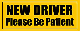 American Vinyl Magnetic New Driver Please Be Patient Magnet (Safe car Safety Drive)