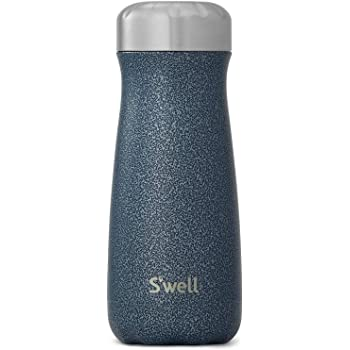 S'well Stainless Steel Traveler Triple-Layered Vacuum-Insulated Containers Keeps Drinks Cold for 26 Hours and Hot for 11 - with No Condensation - BPA Free Water Bottle, 16 Fl Oz, Night Sky