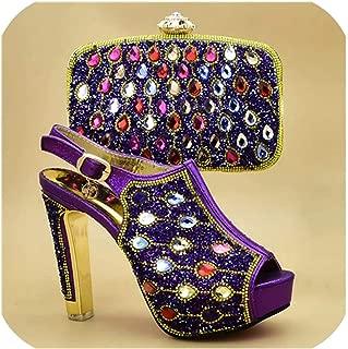 Amazon.es: 38.5 Morado Zapatos de tacón Zapatos para